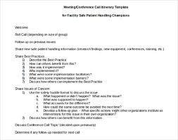 Conference Call Meeting Minutes Template 13 Meeting Itinerary Templates Doc Pdf Free Premium Templates