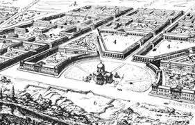 Зоны охраны культурного наследия исторических ареалов в городе  Губернский город С прожектированный план