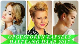 Opgestoken Kapsels Halflang Haar 2017