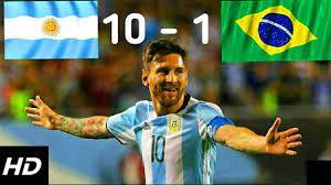 فضيحة كروية / ملخص مباراة البرازيل والأرجنتين 1-10 ◅ تالق ميسي ◅ مباراة  ودية◅جنون رؤوف خليفHD - YouTube