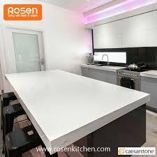 high end white quartz caesarstone countertops for kitchen benchtop design