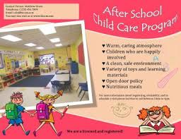 After School Childcare Program Flyer Template After School