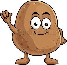 cute potato cartoon. Beautiful Cute Cute Potato Cartoon Character Waving PNG  JPG And Vector EPS Infinitely  Scalable In Potato Cartoon O