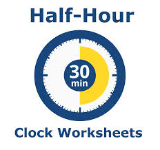 Clock Worksheets - Learning Half-Hours
