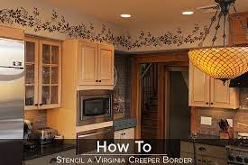 stenciling a border stencil
