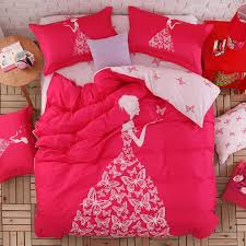 whole pink color girls bedding set or for queen twin size double bed duvet cover bedsheet pillowcase bed quilt 100 cotton bedding quilts country bedding