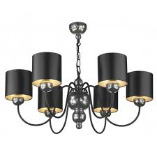 garbo pewter ceiling light black shades