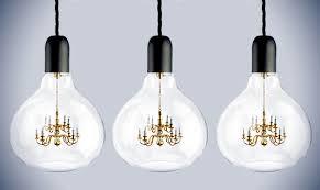 design pendant lamp of mine heart light bulb in the chandelier