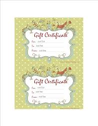 Free Homemade Gift Certificate Word Templates At