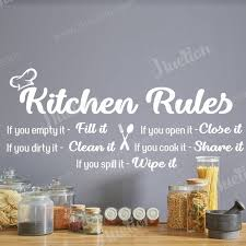 kitchen rules wall art for kitchen wall