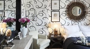 Tapete Schwarz Wei Schlafzimmer Wohndesign