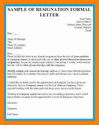 reason for leaving examples 9 formal resignation letter examples letter signature