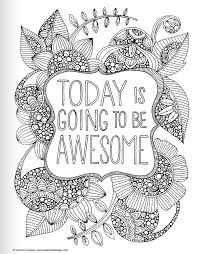 Printable Coloring Pages For Adults Quotes Color Bros
