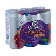 v8 v fusion energy vegetable and fruit pomegranate blueberry beverage blend 6 pk cans