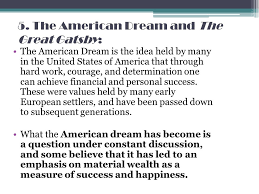 f scott fitzgerald s the great gatsby that was always my 27 5 the american dream and the great gatsby