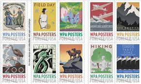 american stamp works stamps celebrating work projects administration posters