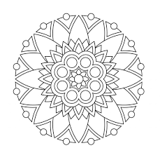Then take a marker, gel pen, or some other coloring method and take a relaxing break. Excelent Easy Mandala Coloring Pages Free Printable For Kids Adults Madalenoformaryland