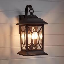 kingston manor dark bronze outdoor 3 light candelabra wall sconce