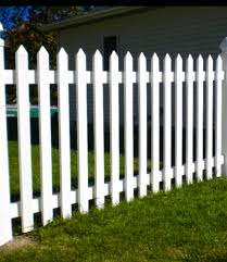 white picket fence. Primed White Picket Fence Pointed Top White Picket Fence H