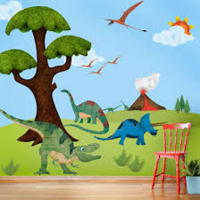 Dinosaur Wall Mural Sticker Kit contemporary-wall-decals