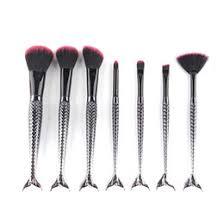 black mermaid brush makeup brush set 7pcs cream face power brushes multipurpose beauty cosmetic
