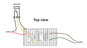 making a simple diy mini guitar amplifier diy strat and other here s a top view of the completed circuit