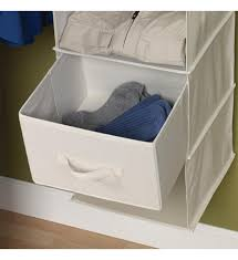 Canvas Drawers for Sweater Organizer Set of 2 in Hanging Closet