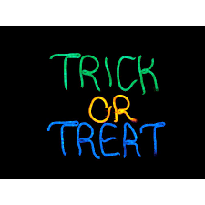 Halloween Neon Lights Details About Home Accents Holiday Halloween Sign Neon Trick Or Treat Led Indoor Decor 12 Inch