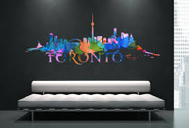 watercolor wall art sticker