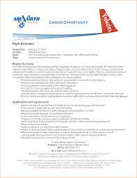 Flight Attendant Resume Template Resume
