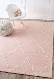 hand tufted wool dotted diamond trellis baby pink area rugs 5 feet x 8 feet x