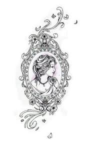 antique frame drawing. Rib Tattoo For A Friend. Antique Frame Drawing I