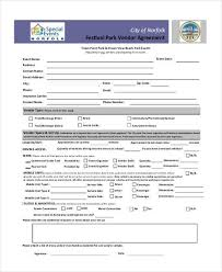 Sample Vendor Agreement Forms 8 Free Documents In Word Pdf
