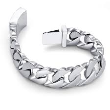 get ations urban jewelry mive 316l snless steel silver color link chain bracelet 8 3 inches