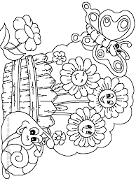 Marvelous Flower Garden Coloring Pages Sensational Comfortable Free