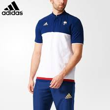 adidas france rugby anthem polo shirt white dark blue power red ro50684 men s