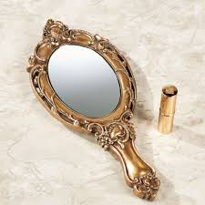 hand mirror. Modren Hand Darling Diora Hand Mirror Gold Touch To Zoom Intended 1