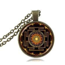 sacred sri yantra necklace