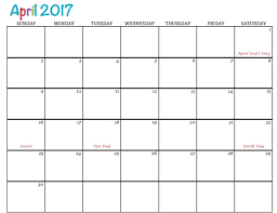 april calendar free printable calendar april 2017 to simply inspire