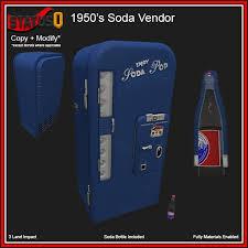 1950'S Vending Machine Cool Second Life Marketplace StatusQ 48's Soda Vending Machine