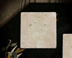 Blank Water Absorbent Tumbled Stone Coasters (Set of 10)