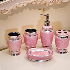 crystal bathroom accessories. pink bathroom accessories crystal o
