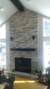 stone fireplace surround stacked veneer facing designs granite kits uk
