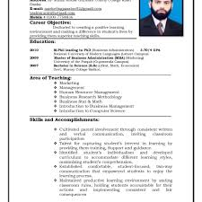 New Resumes Format Nardellidesign Com Cv For Teachers Free