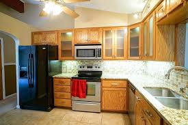 upper cabinet lighting. See Through Cabinet Doors Upper With In Lighting Newer Appliances As