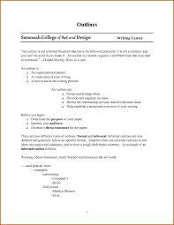 Informal Paper Outline Ssay Layout Formal And Outlines Organ
