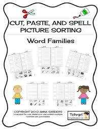 All worksheets only my followed users only my favourite worksheets only my own worksheets. Cut And Paste Spell Phonics Picture Sorting Worksheet Word Families Free