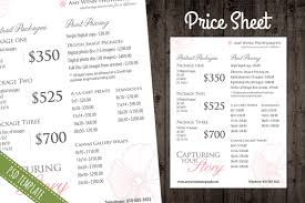 Price Sheet Template Price List Template Pricing Sheet Flyer Templates Creative Market 1