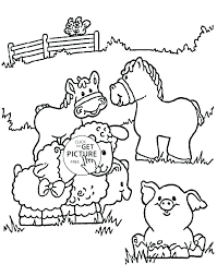 Farm Animal Coloring Pages Printable Animals Colouring Pdf Free P