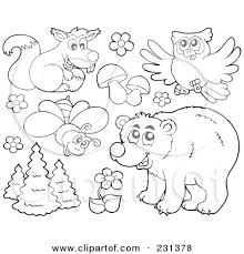 Forest Animal Coloring Page Forest Animal Printables Tirevi Fontanacountryinn Com